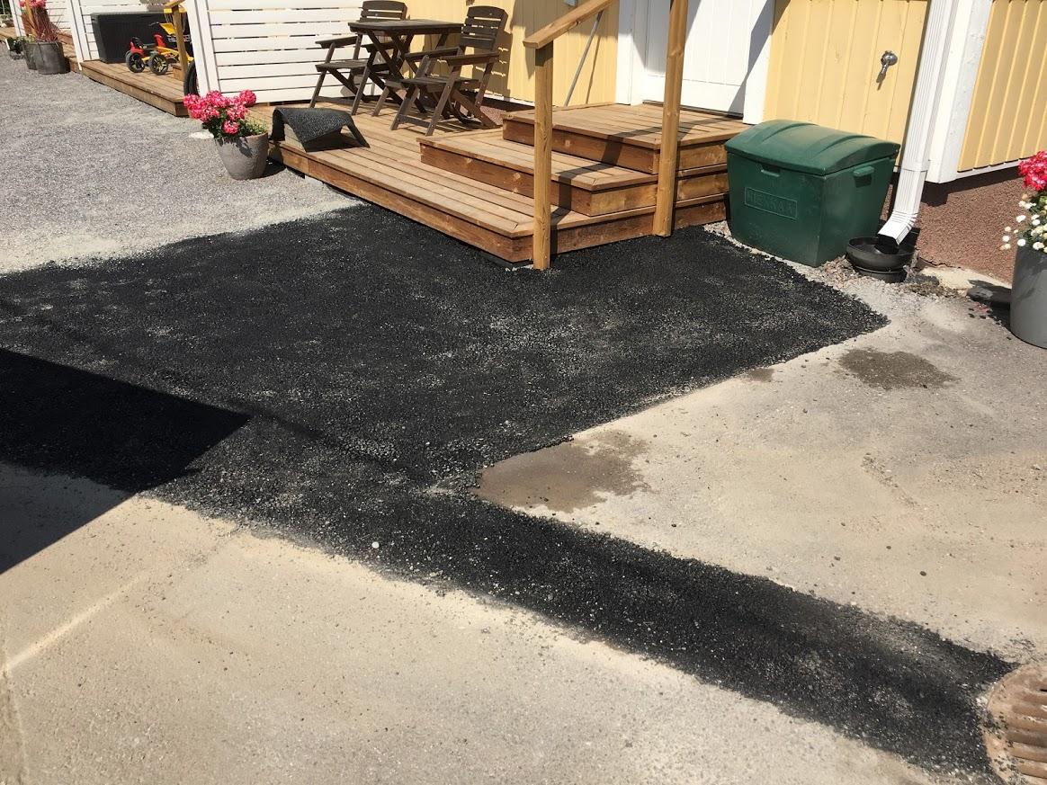 rappusten edustan asfaltointi