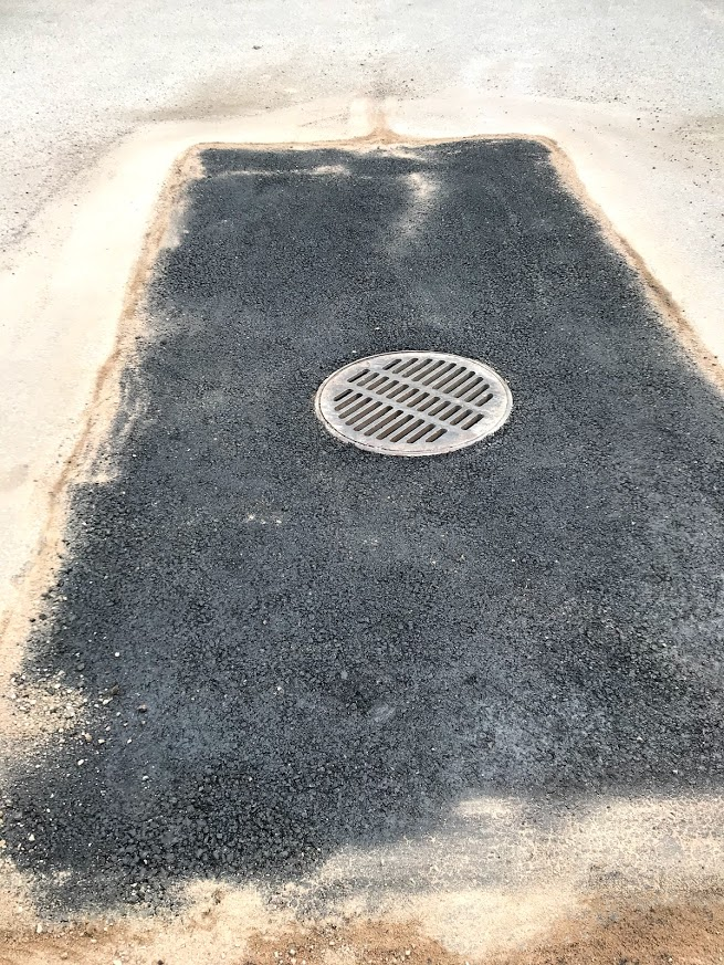 kaivon ympärystän asfaltointi