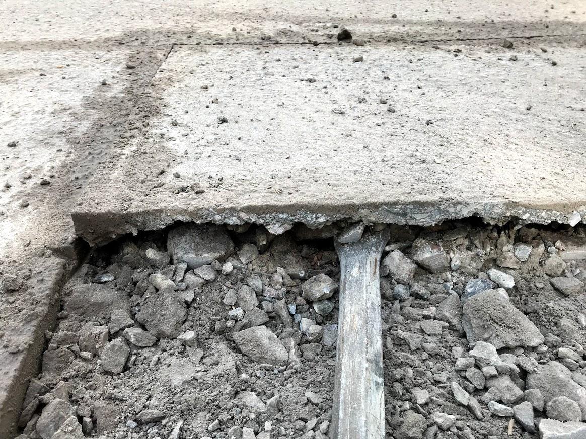 asfaltin korjausta